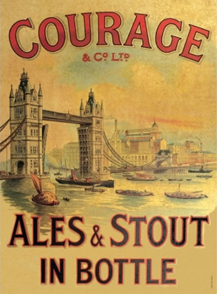 Courage Ales - A3 Metal Wall Sign